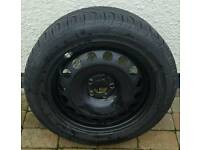 "Vw audi seat skoda 16"" full size steel spare wheel 5x100"