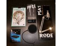 For pc and xbox, elgato game capture and blue yeti microphone and more.