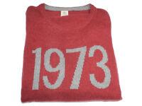 Timberland Mens Slim Fit Burnt orange Jumper Sweater chunky knit TW18