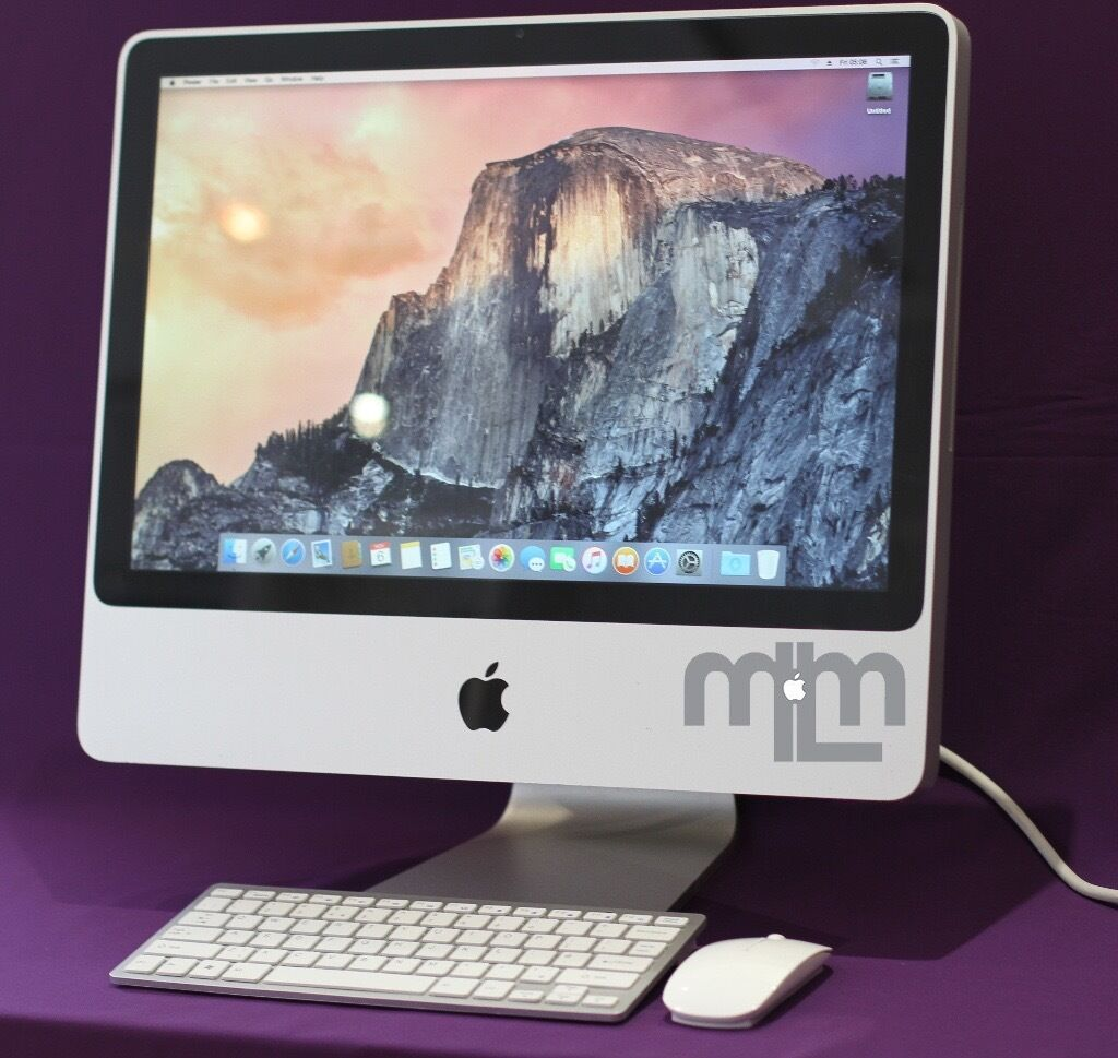 "APPLE IMAC 20"" 2GHZ 2GB 250GB HDD LOGIC PRO X ABLETON SUITE 9 WAVES ADOBE CS6 MICROSOFT OFFICE 2016in Lewisham, LondonGumtree - 20"" APPLE iMAC DESKTOP COMPUTER MODEL SPECIFICATIONS 2Ghz PROCESSOR 2GB RAM 250GB HDD NEW SEPTEMBER 2016 OS X SIERRA 10.12 OPERATING SYSTEM IN COMPLETE FUNCTIONAL ORDER COLLECTION WELCOME OR FREE LONDON DELIVERY FEEL FREE TO TEST BEFORE PURCHASE..."
