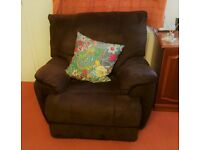 Armchair for sale. Rich chocolate brown.