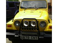 RARE 2,5LT YELLOW WRANGER JEEP XREG IN EXCELLENT CONDITION MUST SEE