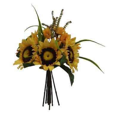Sunflower Bouquet YELLOW Wedding Centerpieces Silk Bridal Flowers Home Decor Yellow Bouquet Flowers