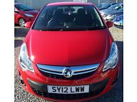 2012 VAUXHALL CORSA 1.2 EXCITE 3 dr ONLY 22000 miles