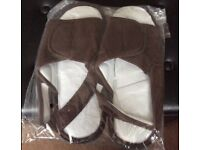 Two pack Brown and Blue Memory Foam Sandals 10-12. Unworn still packaged.