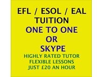 Highly-Rated & Qualified EFL/ESOL/EAL Tutor - Tuition That Gets Results!