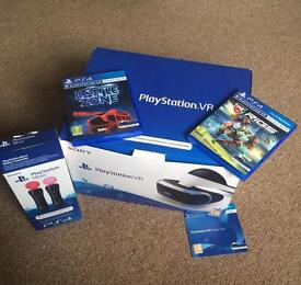 PlayStation VR For sale '2 games and motion controllers'