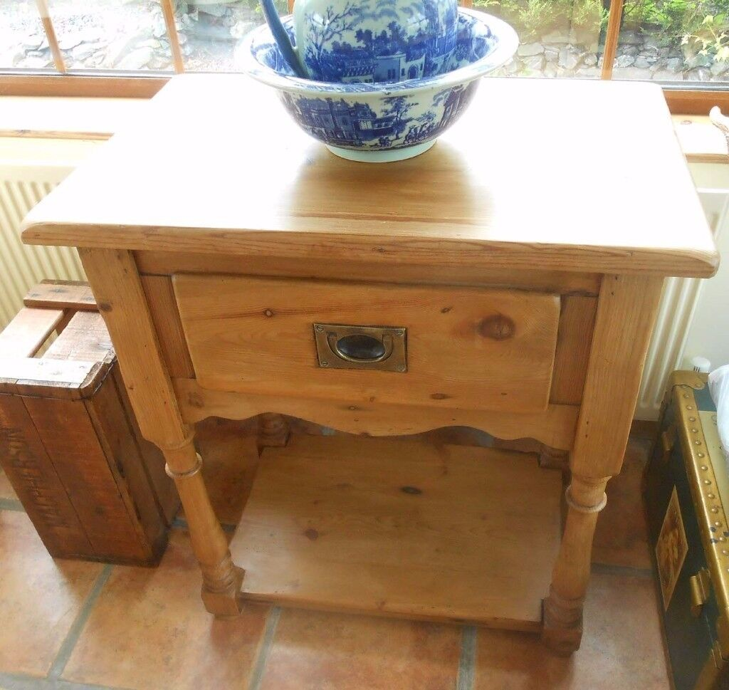 Lovly Vintage Solid wood Telephone or Hall Table