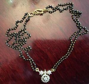 22K Yellow Gold and NATURAL Diamond and Onyx Ball Necklace