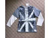 Boys Next Mock Layer T-shirt - Size 5 Years BNWT