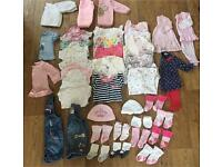 Baby girls newborn bundle