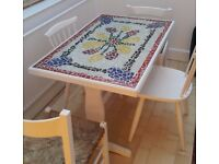 Mosaic-topped dining table
