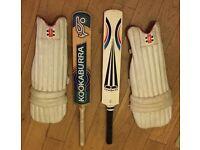 2 x cricket bats & pads