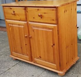freestanding cupboard, solid 100% pine wood. strong sturdy, good clean condition.
