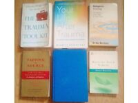 Job Lot of 6 Assorted Paperback and Hardback Self Help Books on Trauma PTSD.