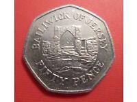 1997 'Bailiwick of Jersey Grosnez Castle' Commemorative 50p Coin