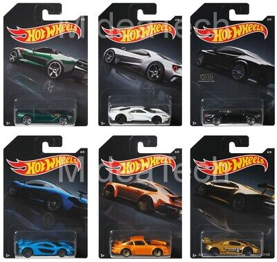 2019 Hot Wheels Walmart Exclusive Exotic Series Complete Set Of 6, 1/64 Diecast