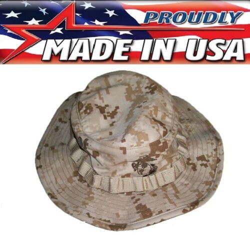 R&B USMC Marine Marpat Desert Digital Camouflage Boonie Hat W/EGA US Made 574
