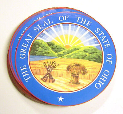 The Great Seal Of The State Of Ohio Sticker   8 Inch Large   Wall Etc