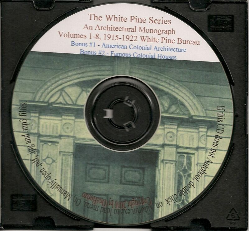 White Pine Series - Colonial Architecture Volumes 1-8