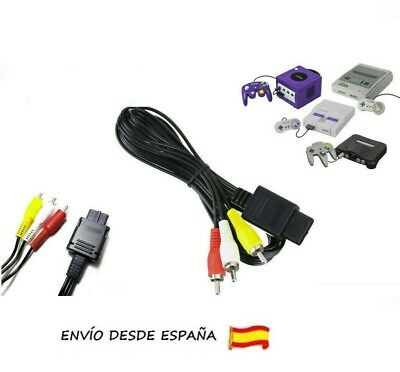 Nintendo SNES GameCube N64 TV cable de antena de video AV RCA...