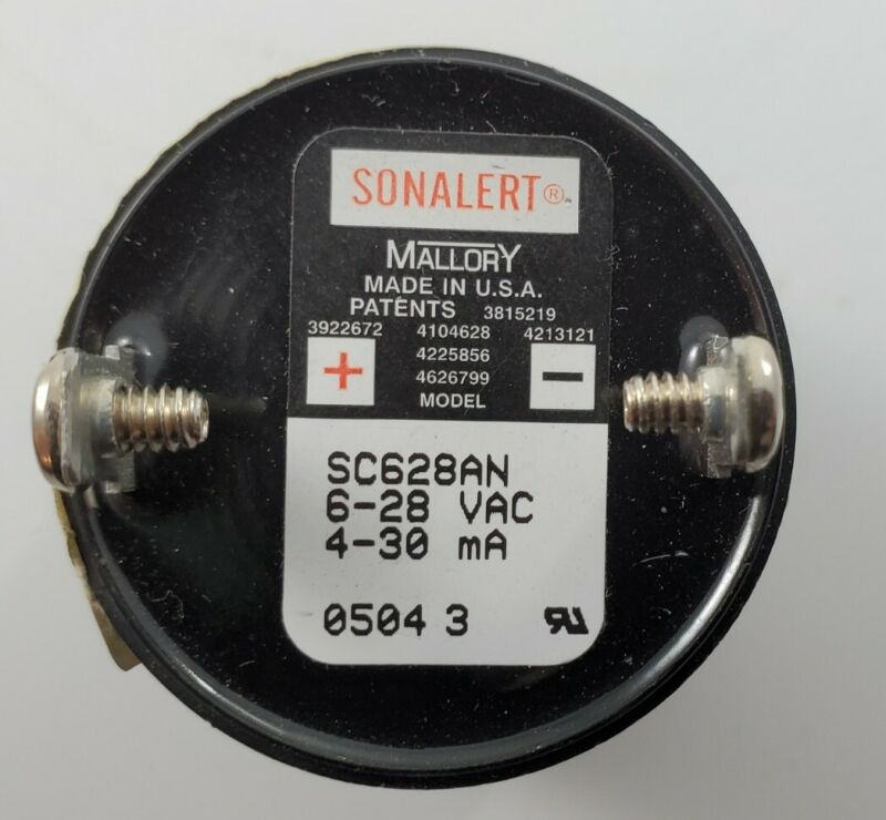 Sonalert Mallory SC628AN Transducer *New Old Stock*