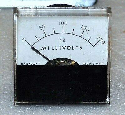 Honeywell Marion Model Ms1t Dc Millivolts Meter 0-200 Mv Scale Vintage