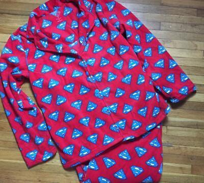 SUPERMAN SUPERGIRL Themed ~ Pajama Set ~ Women's L Large ~ NWOT