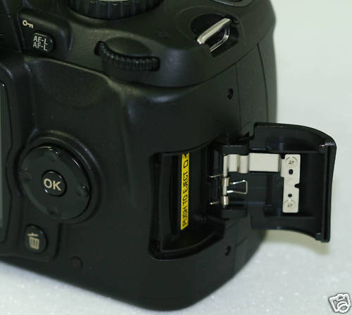 Nikon D90 SD Card Chamber Door/Cover PART With Spring and Metal 1F998-811