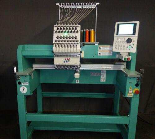 2011 Tajima TFMX C1501 15 Needle Single Head Embroidery Machine
