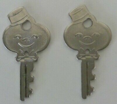 Two Vtg American Tourister Luggage / Suitcase Keys Bell Hop Boy Collectible Keys