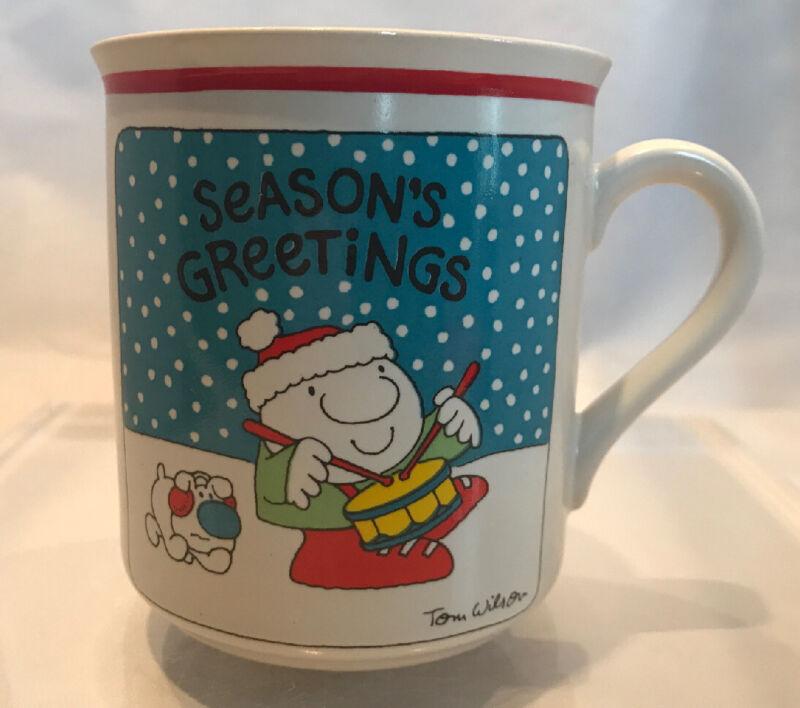 Vintage 1980 Ziggy Christmas Mug Cup-Tom Wilson Stoneware