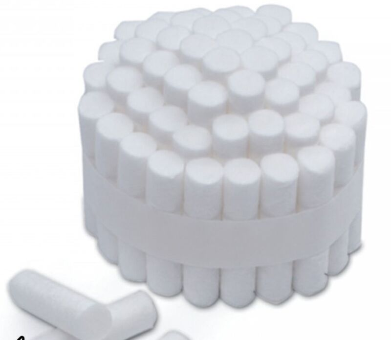 "Dental Cotton Rolls 1-1/2"" (# 2) (Medium Diameter 3/8"") *FREE SHIPPING*"