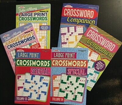 6 Crossword Puzzle Books By Kappa - New