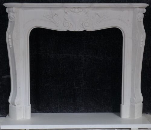 French marble Mantel - HAND CARVED Mantle – STUNNING DETAIL - EXTRA TALL!