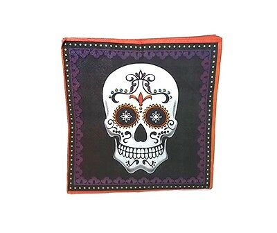 Halloween Lunch Or Dinner Napkins- Day Of The Dead Skull Skeleton 20 Count](Halloween Dinner)