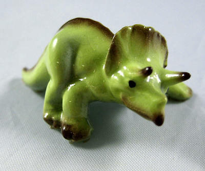 Hagen Renaker miniature made in America Triceratops Mama dinosaur retired