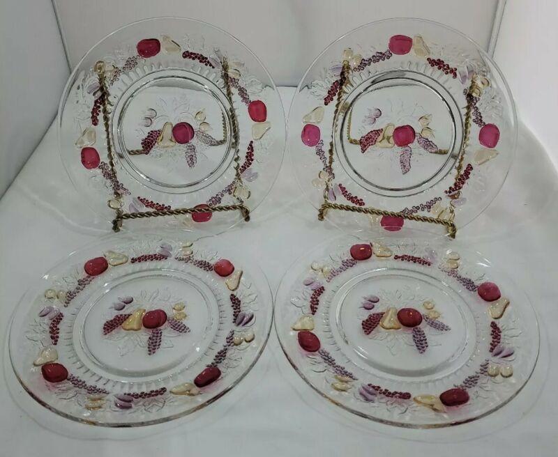 "4 Westmoreland Glass Della Robbia 9"" Plate Dark Fruit"