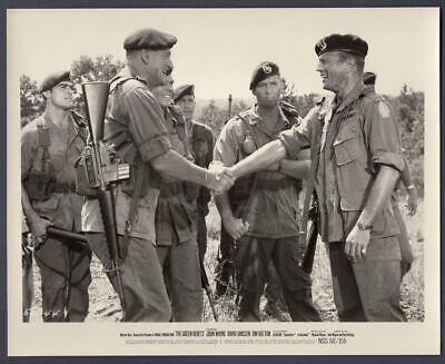 JOHN WAYNE ALDO RAY Shake Hands THE GREEN BERETS Orig Movie Still Photo - $24.95