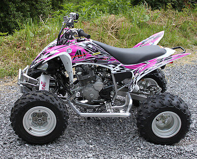 Yamaha Raptor 250 graphics decal kit | Free custom service NO2500 hot pink