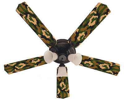 Green ceiling fanebay 1 new camoflauge camo green ceiling fan 52 mozeypictures Gallery