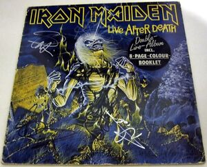 IRON-MAIDEN-Live-After-Death-FULLY-SIGNED-Vinyl-LP-Bruce-Dickinson-AUTOGRAPH