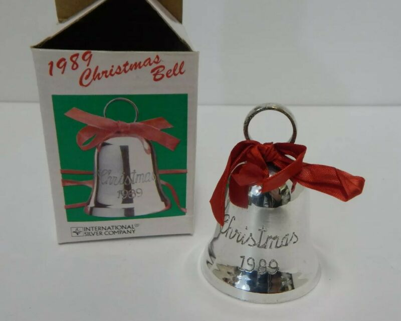 Vintage 1989 Silver Plated Christmas Bell International Silver Company