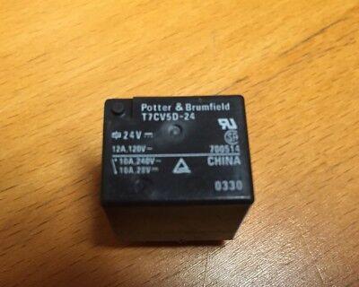 Potter Brumfield T7cv5d-24 Relay Pcb Spdt 24vdc 12a 2pcs 1 Lot