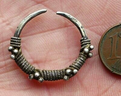 Buckle Ear Silver Watermarked Jewellery Antique Mauretania Africa Antique