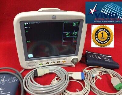 Ge Patient Monitor Dash 4000 Ecg Nibp Spo2 Ibp New Access 1 Yr Warraty Recorder