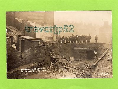 Commercial Street Newton Hyde Manchester Flood 1906 unused RP pc Smith Ref C408