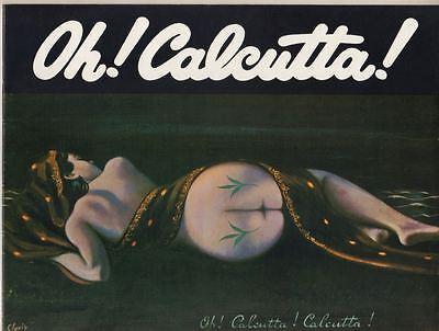 """Oh! Calcutta!""  Souvenir Program  Broadway 1969  OBC  Bill Macy, Alan Rachins"