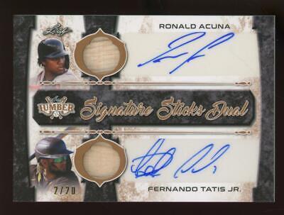 2021 Leaf Lumber Ronald Acuna Fernando Tatis Jr 2/20 Auto Game Used Bat