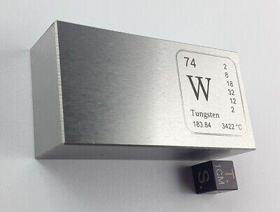 Wolfram-Barren - knapp 1 kg - pure Tungsten bar